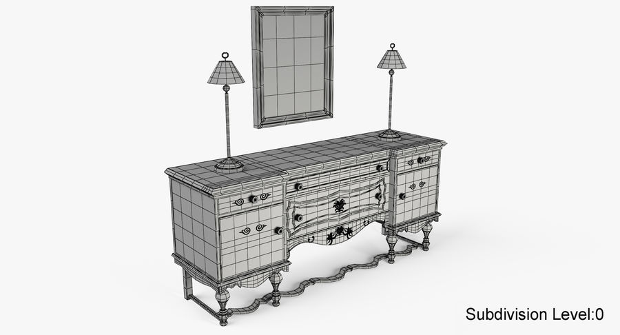 Muebles para conjunto de armario de pasillo royalty-free modelo 3d - Preview no. 16