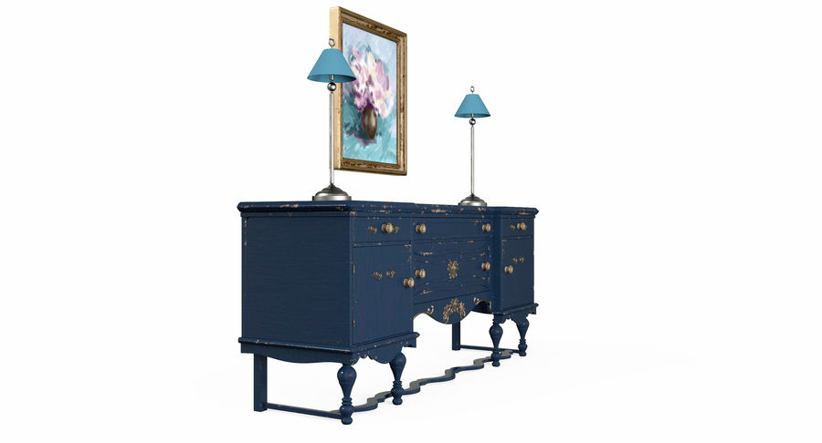 Muebles para conjunto de armario de pasillo royalty-free modelo 3d - Preview no. 5