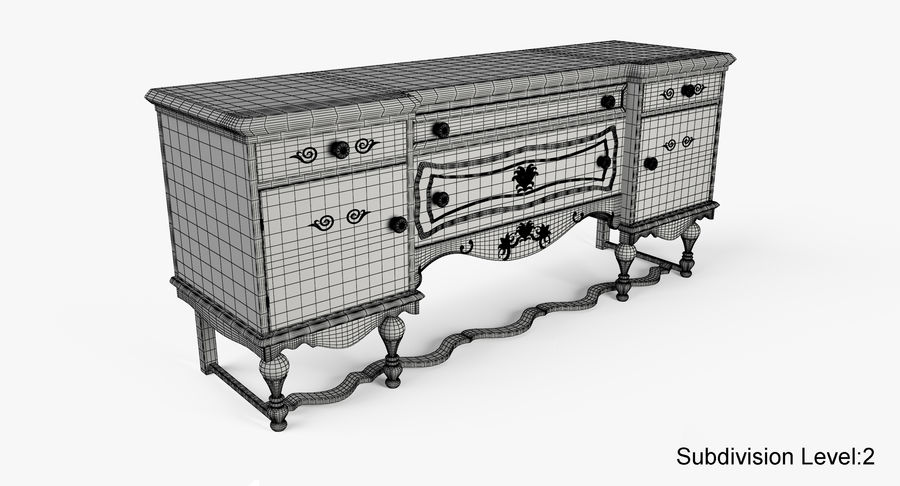 Muebles para conjunto de armario de pasillo royalty-free modelo 3d - Preview no. 21