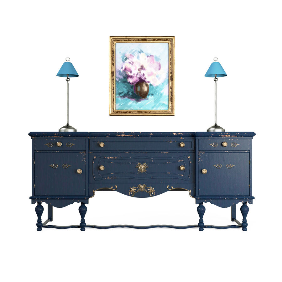 Muebles para conjunto de armario de pasillo royalty-free modelo 3d - Preview no. 1