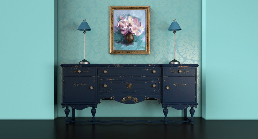 Muebles para conjunto de armario de pasillo royalty-free modelo 3d - Preview no. 3