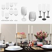 Cocktail Glasses 3D 모델 컬렉션 2 3d model