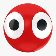 Ball mit Augen 3d model