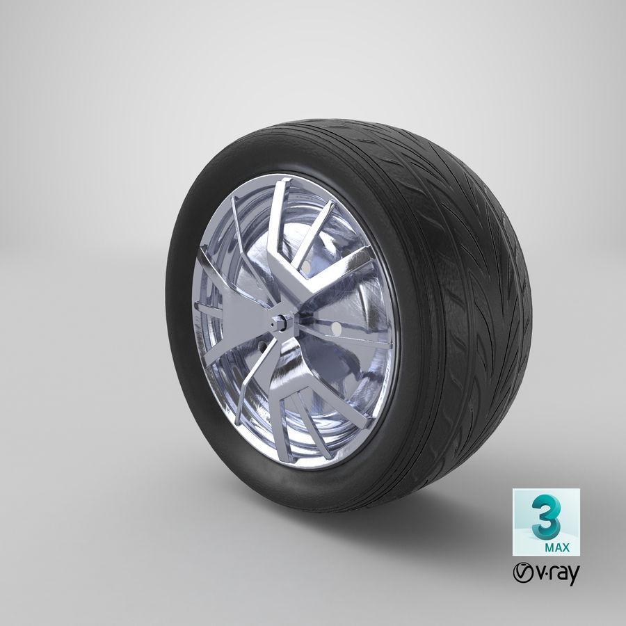 Car Wheel royalty-free 3d model - Preview no. 15