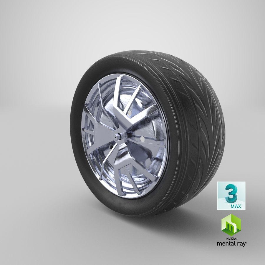 Car Wheel royalty-free 3d model - Preview no. 14
