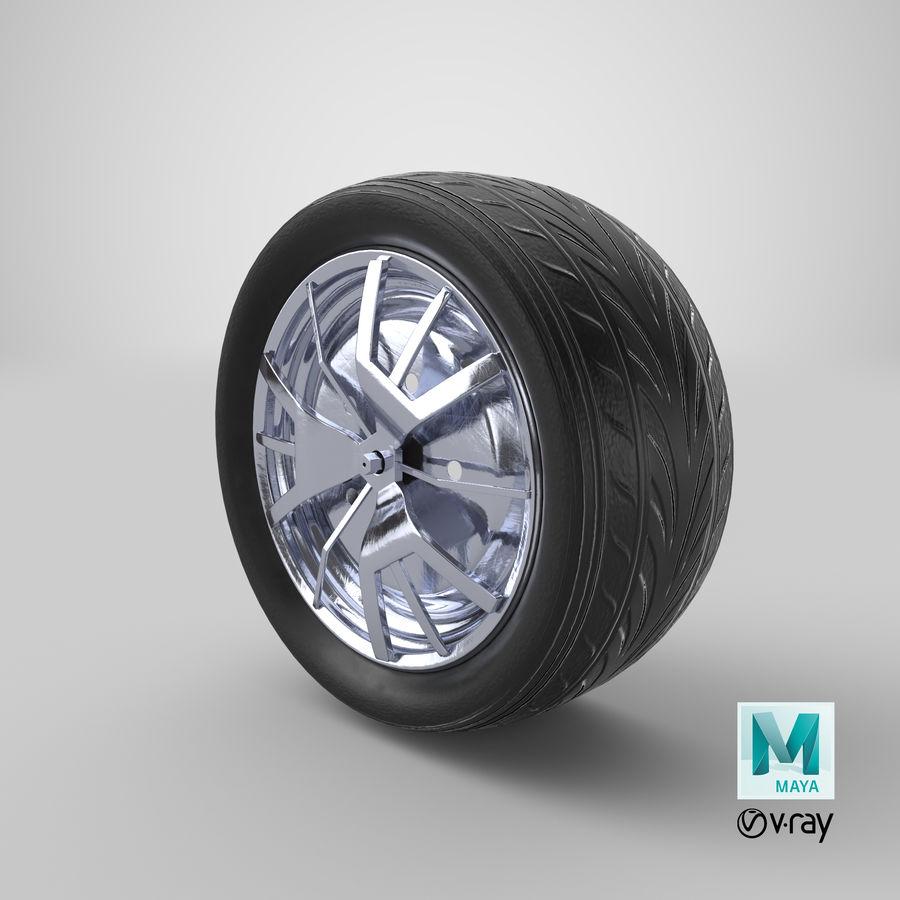 Car Wheel royalty-free 3d model - Preview no. 12