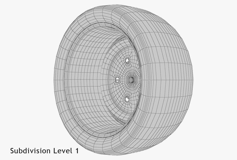 Car Wheel royalty-free 3d model - Preview no. 17