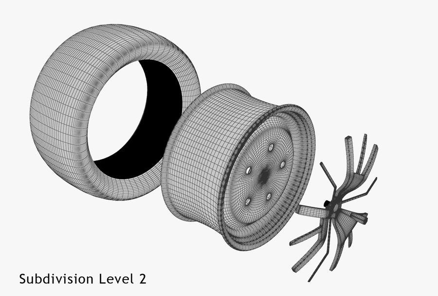 Car Wheel royalty-free 3d model - Preview no. 30