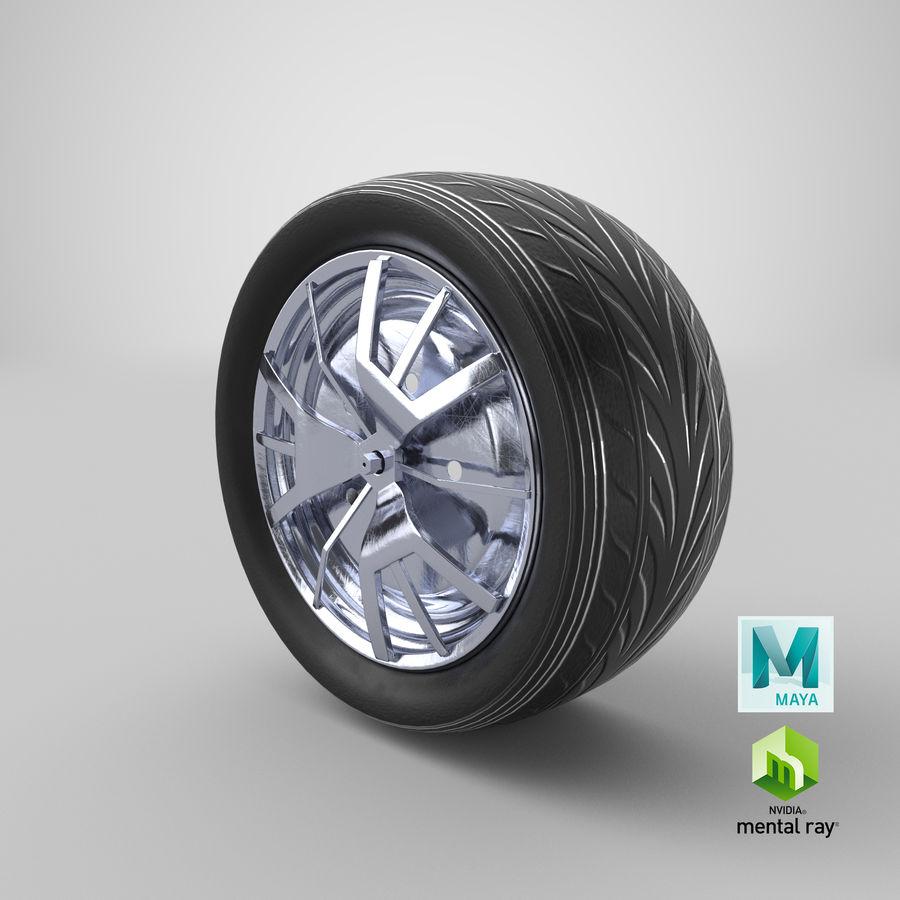 Car Wheel royalty-free 3d model - Preview no. 13