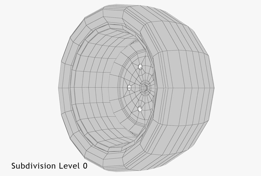 Car Wheel royalty-free 3d model - Preview no. 16