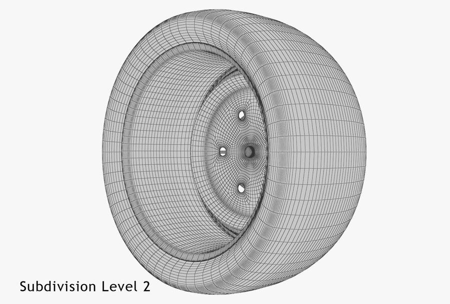 Car Wheel royalty-free 3d model - Preview no. 18