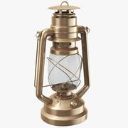 Lampe à huile ouragan en laiton 3d model