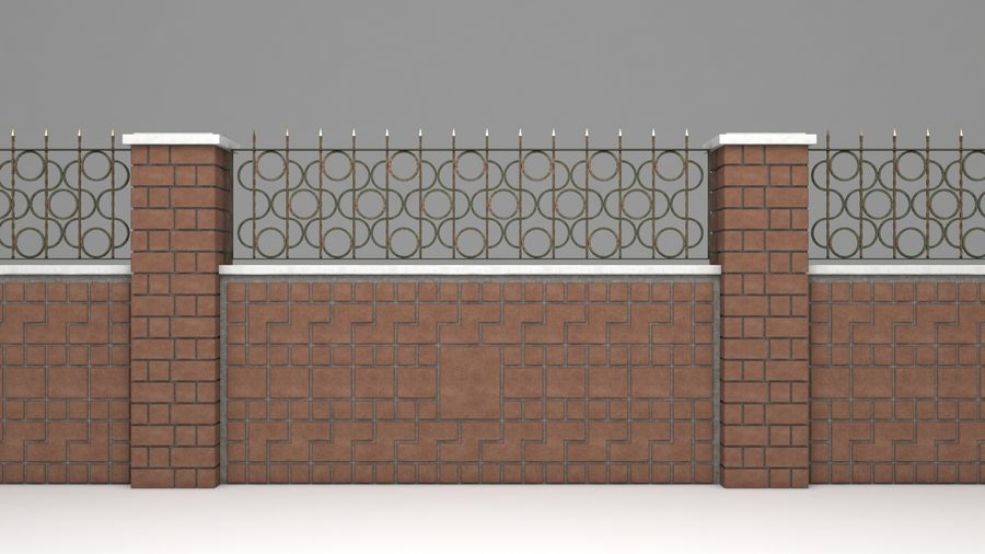 Garden Wall Wrought Iron Fence 3d Model 9 Unknown Max Fbx