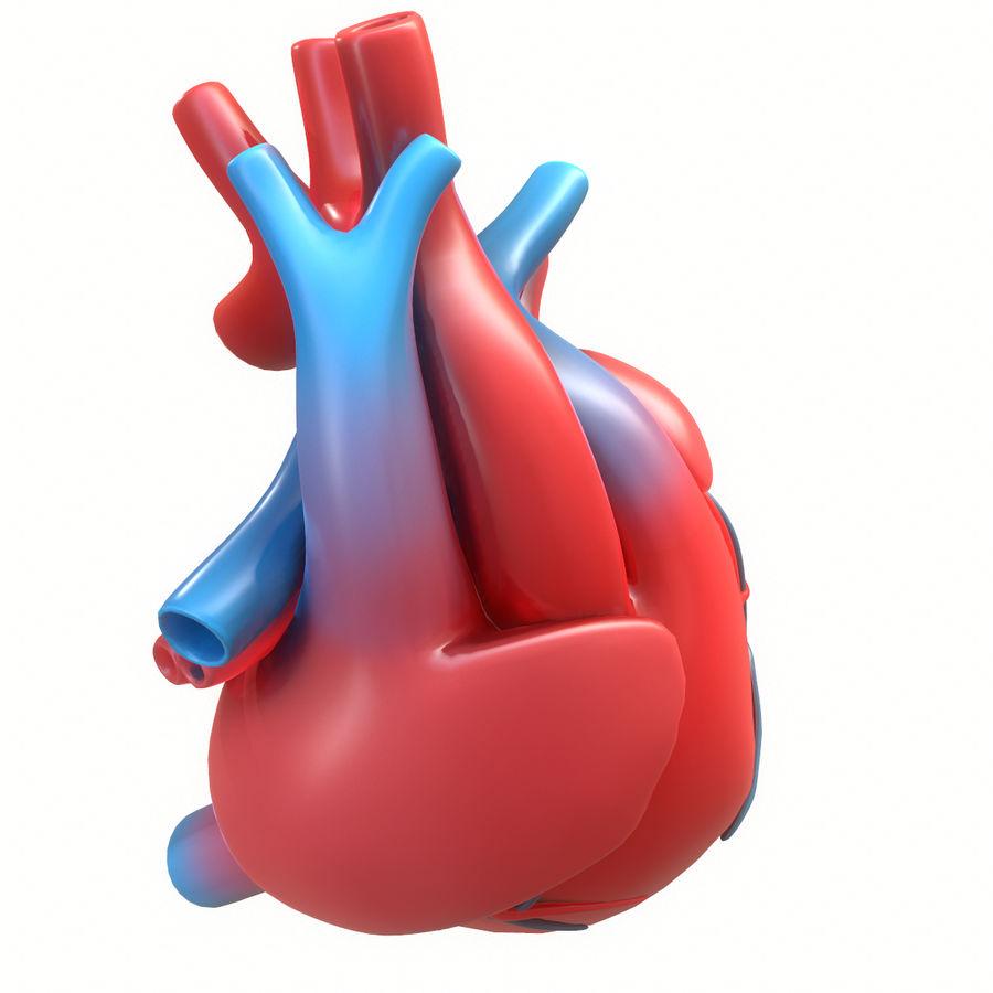 Ludzkie serce royalty-free 3d model - Preview no. 15