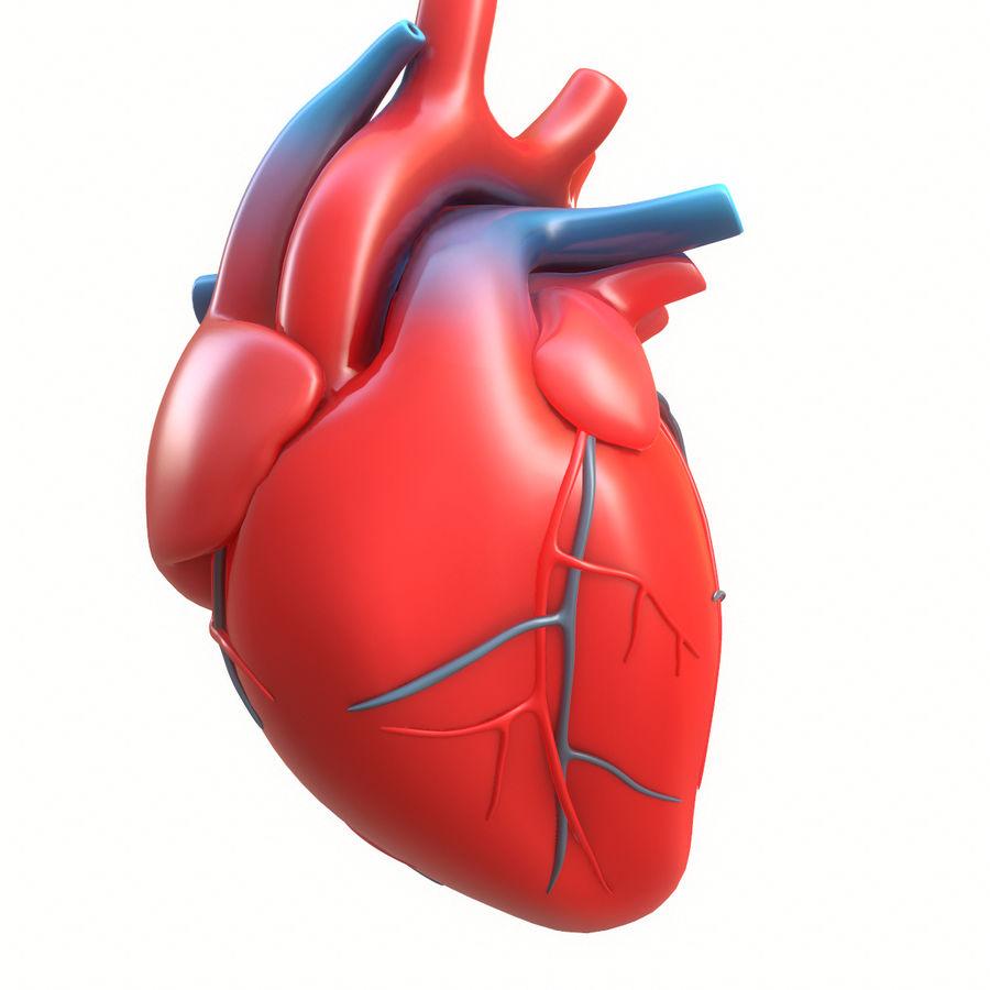 Ludzkie serce royalty-free 3d model - Preview no. 13