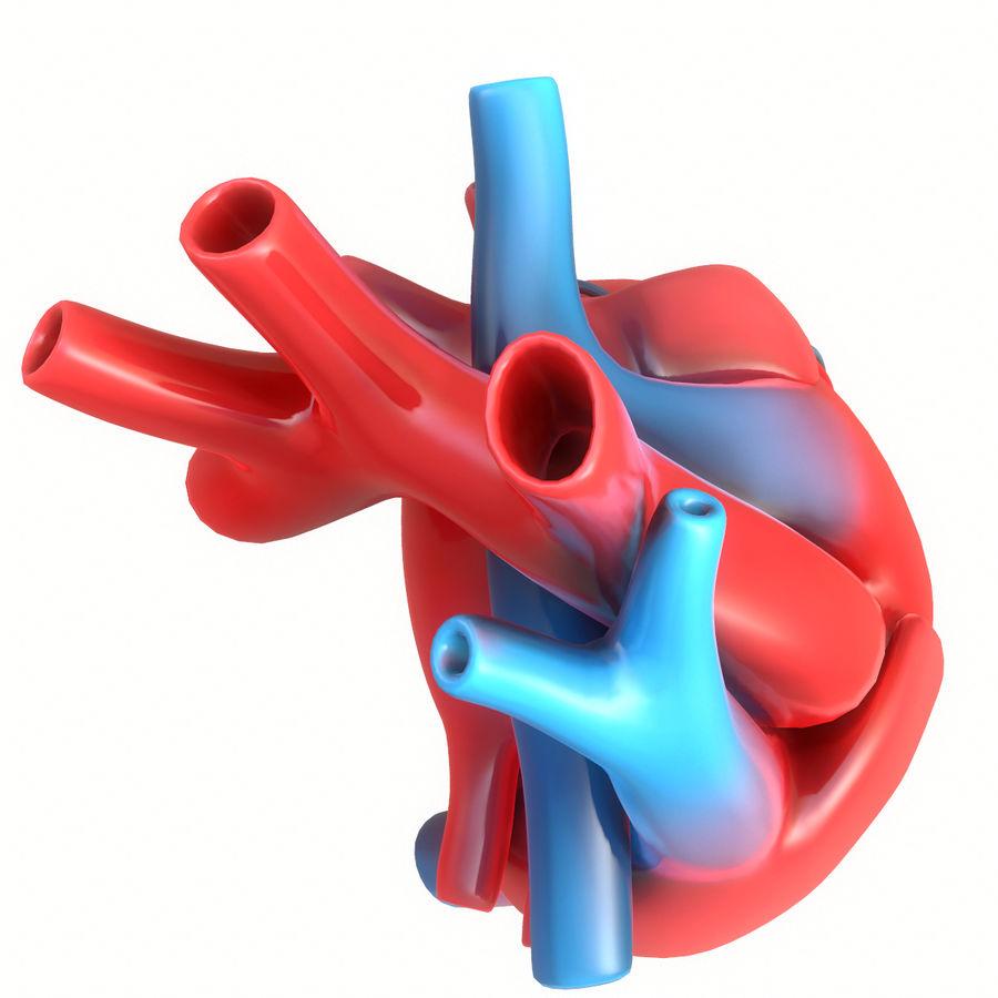 Ludzkie serce royalty-free 3d model - Preview no. 6