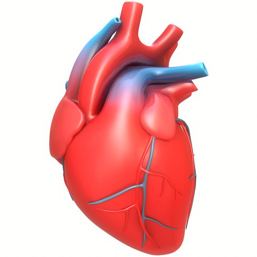 Ludzkie serce royalty-free 3d model - Preview no. 1