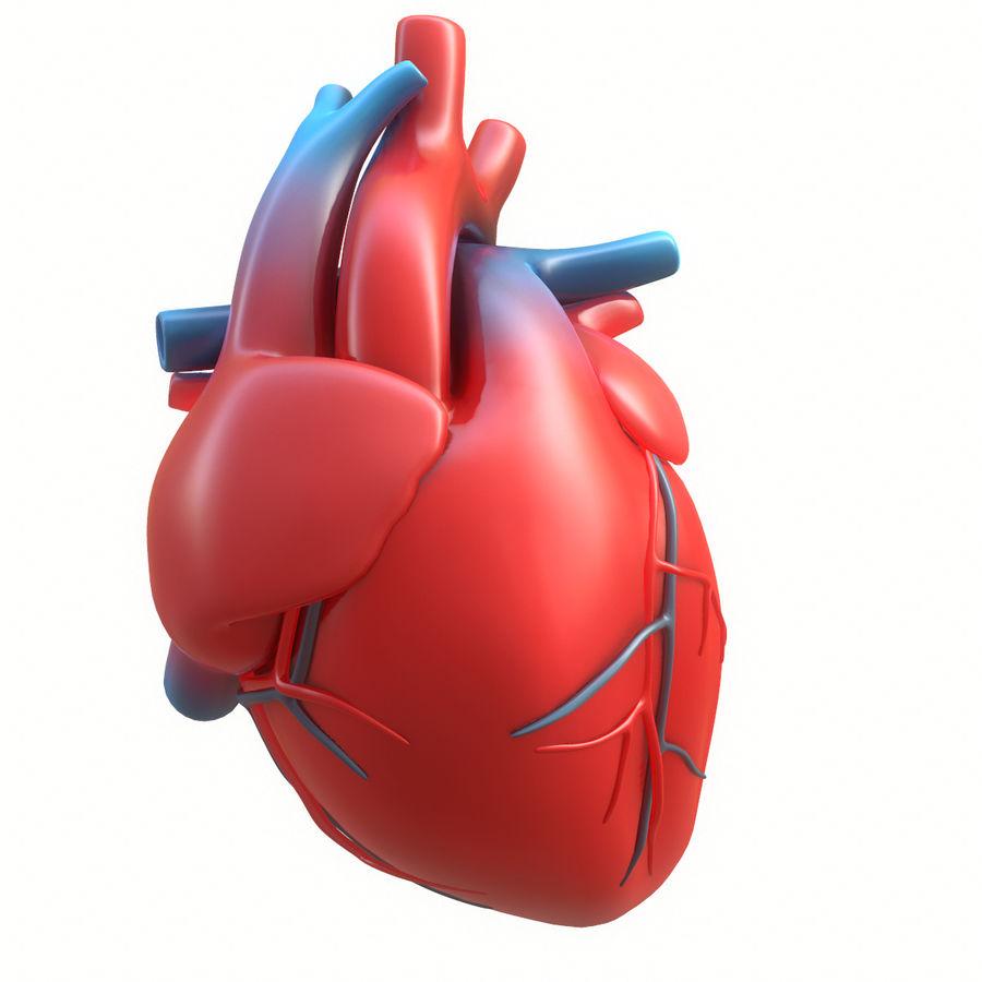 Ludzkie serce royalty-free 3d model - Preview no. 14