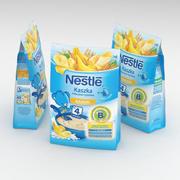 Nestle Instant Milk Rice Cereal Semolina med bananer för spädbarn 230g 3d model