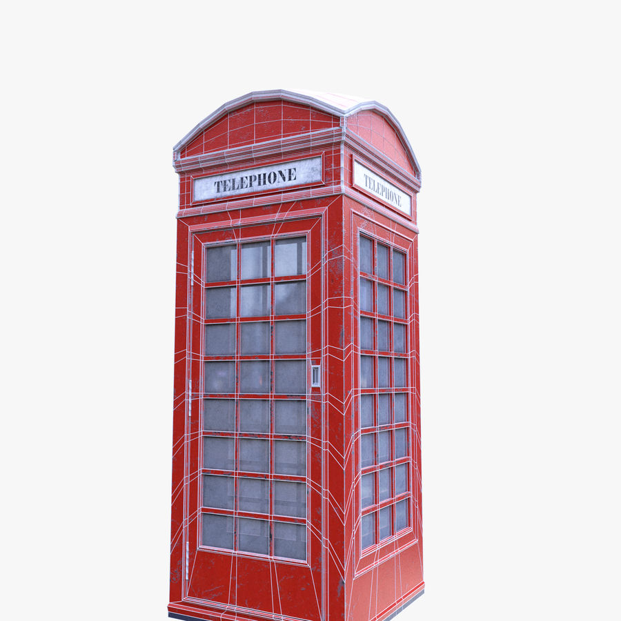 Telephone Box royalty-free 3d model - Preview no. 10