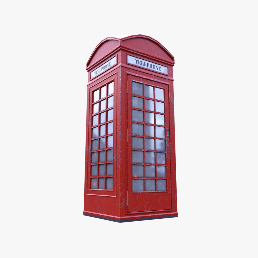 Telephone Box royalty-free 3d model - Preview no. 6
