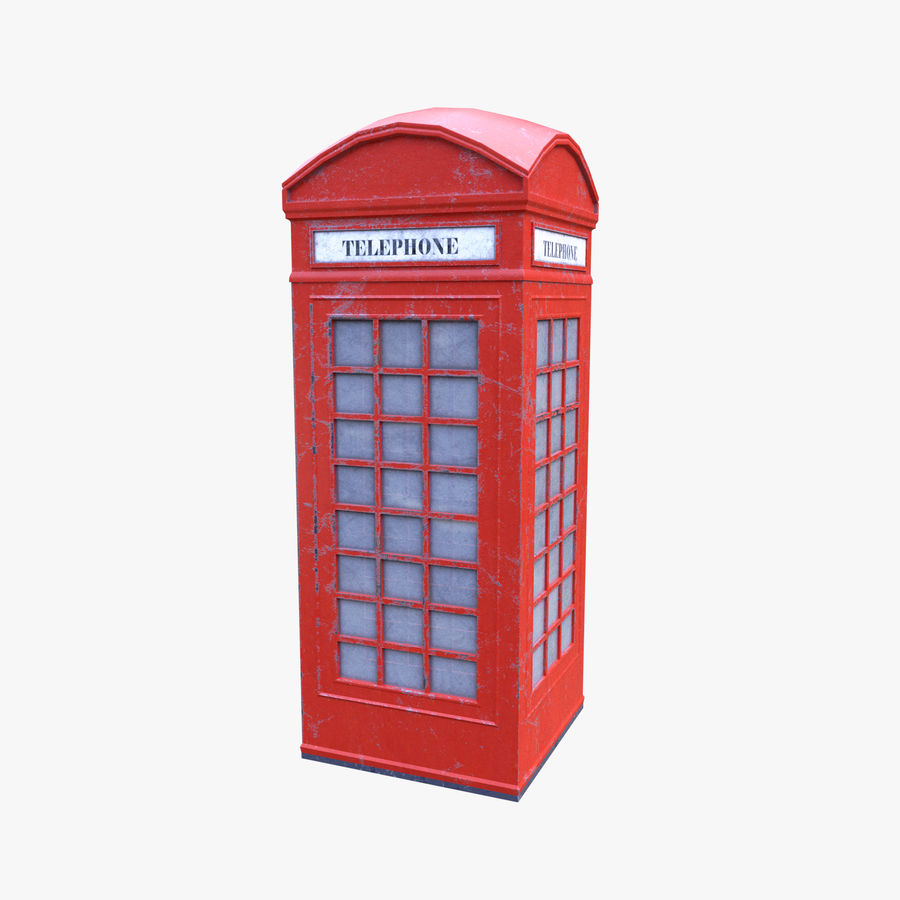 Telephone Box royalty-free 3d model - Preview no. 8