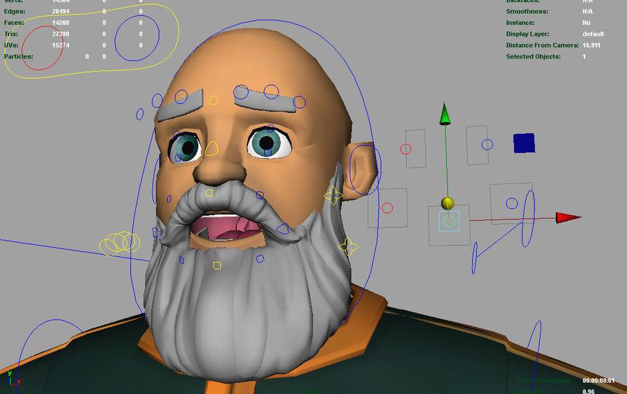 Personagem fraudada dos desenhos animados 5 royalty-free 3d model - Preview no. 7