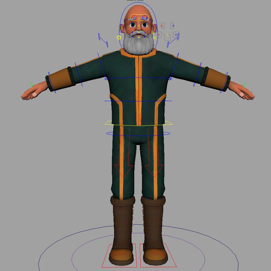 Personagem fraudada dos desenhos animados 5 royalty-free 3d model - Preview no. 6