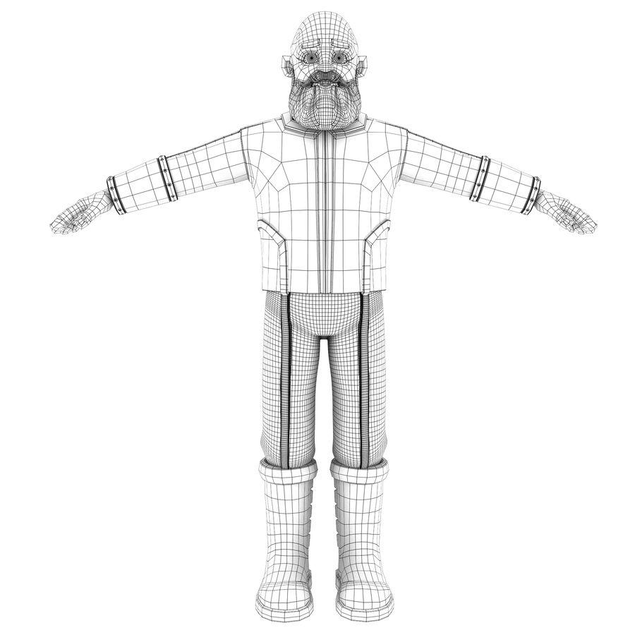 Personagem fraudada dos desenhos animados 5 royalty-free 3d model - Preview no. 4