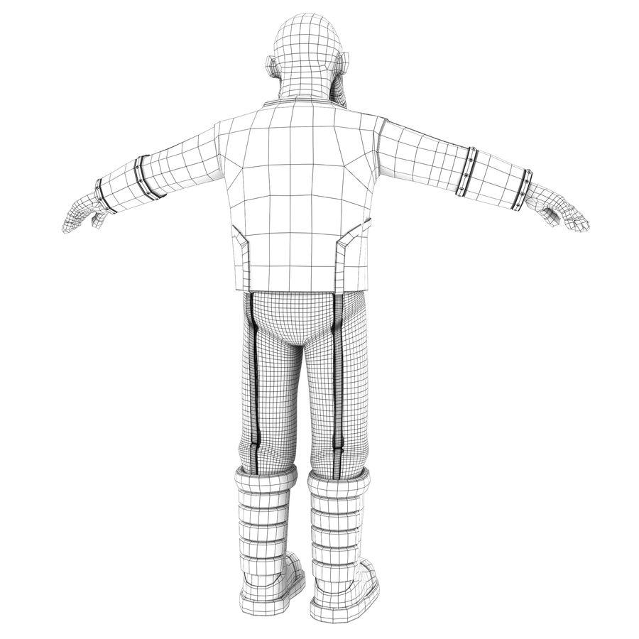 Personagem fraudada dos desenhos animados 5 royalty-free 3d model - Preview no. 8