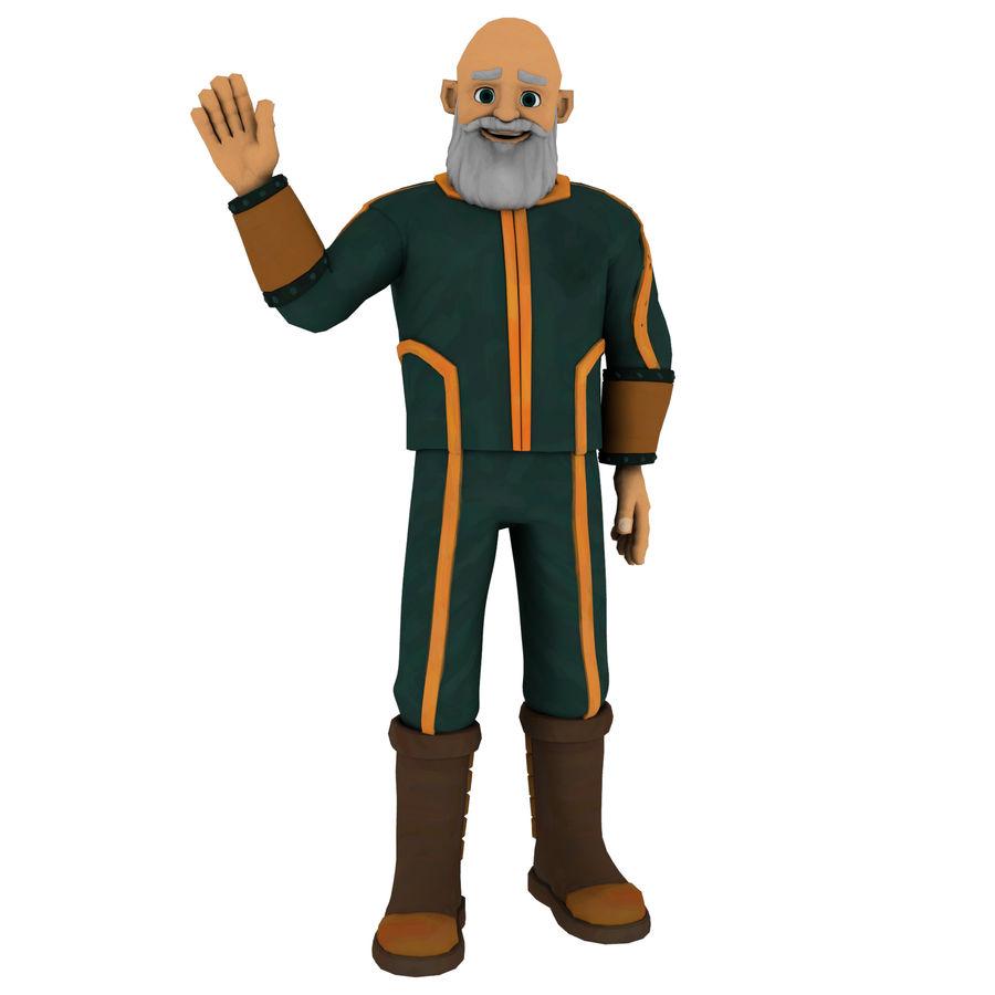 Personagem fraudada dos desenhos animados 5 royalty-free 3d model - Preview no. 1