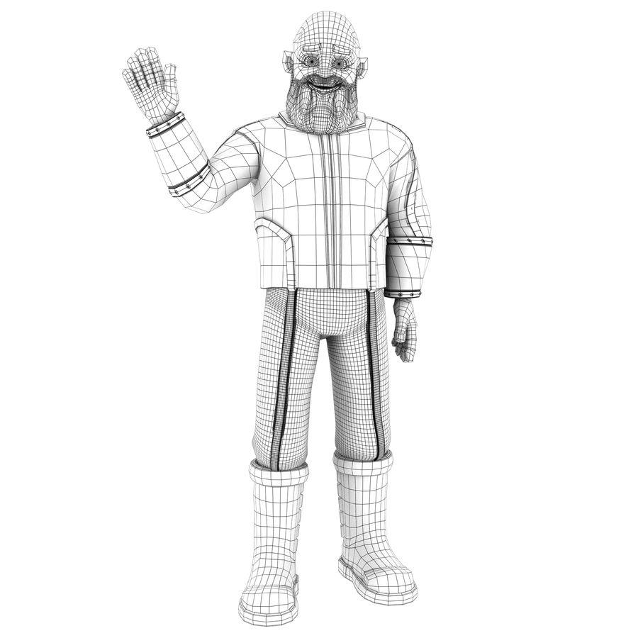 Personagem fraudada dos desenhos animados 5 royalty-free 3d model - Preview no. 2