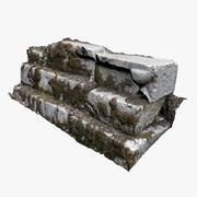 古代の石の階段 3d model
