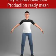 Personnage masculin stylisé 3d model