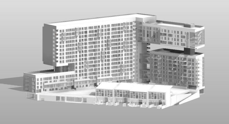 Casa de la ciudad royalty-free modelo 3d - Preview no. 4