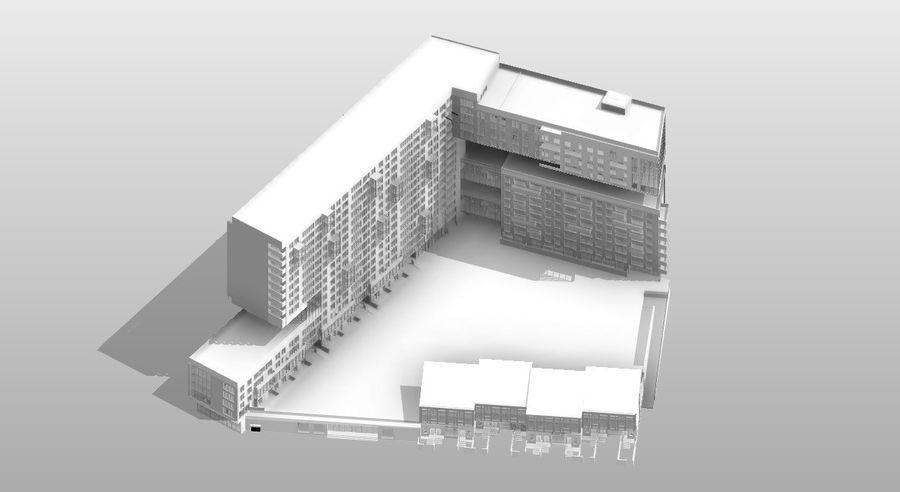 Casa de la ciudad royalty-free modelo 3d - Preview no. 5