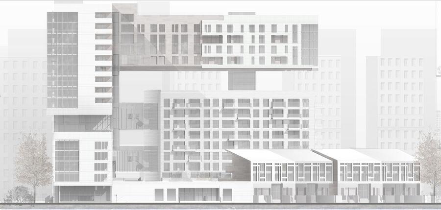 Casa de la ciudad royalty-free modelo 3d - Preview no. 7
