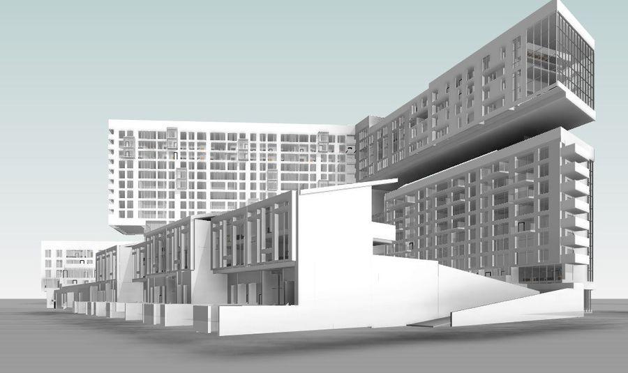 Casa de la ciudad royalty-free modelo 3d - Preview no. 3