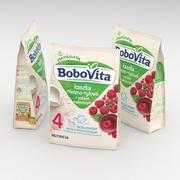 Nutricia Bobovita Instant Milk Semolina med hallon för spädbarn 230g 3d model