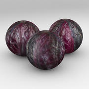 Repollo rojo vegetal modelo 3d