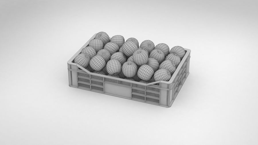 Fruit Apple Green Granny Smith Crate royalty-free 3d model - Preview no. 15