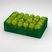 Fruit Apple Green Granny Smith Crate 3d model
