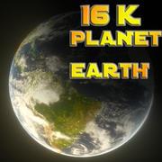 16k Planet Earth 3d model