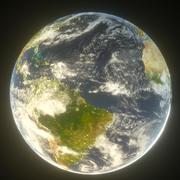 16k planète terre 3d model