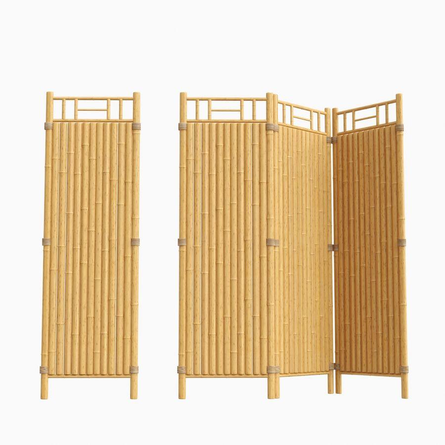 cercas de bambu secional royalty-free 3d model - Preview no. 9
