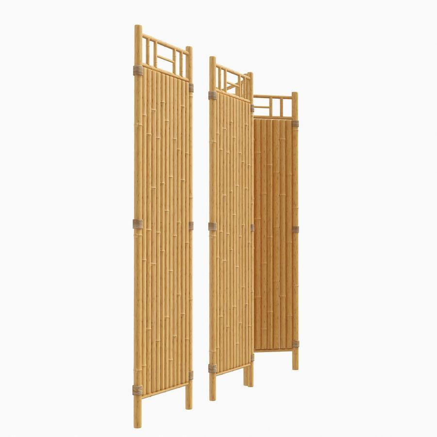 cercas de bambu secional royalty-free 3d model - Preview no. 3