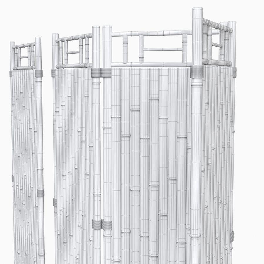 cercas de bambu secional royalty-free 3d model - Preview no. 12