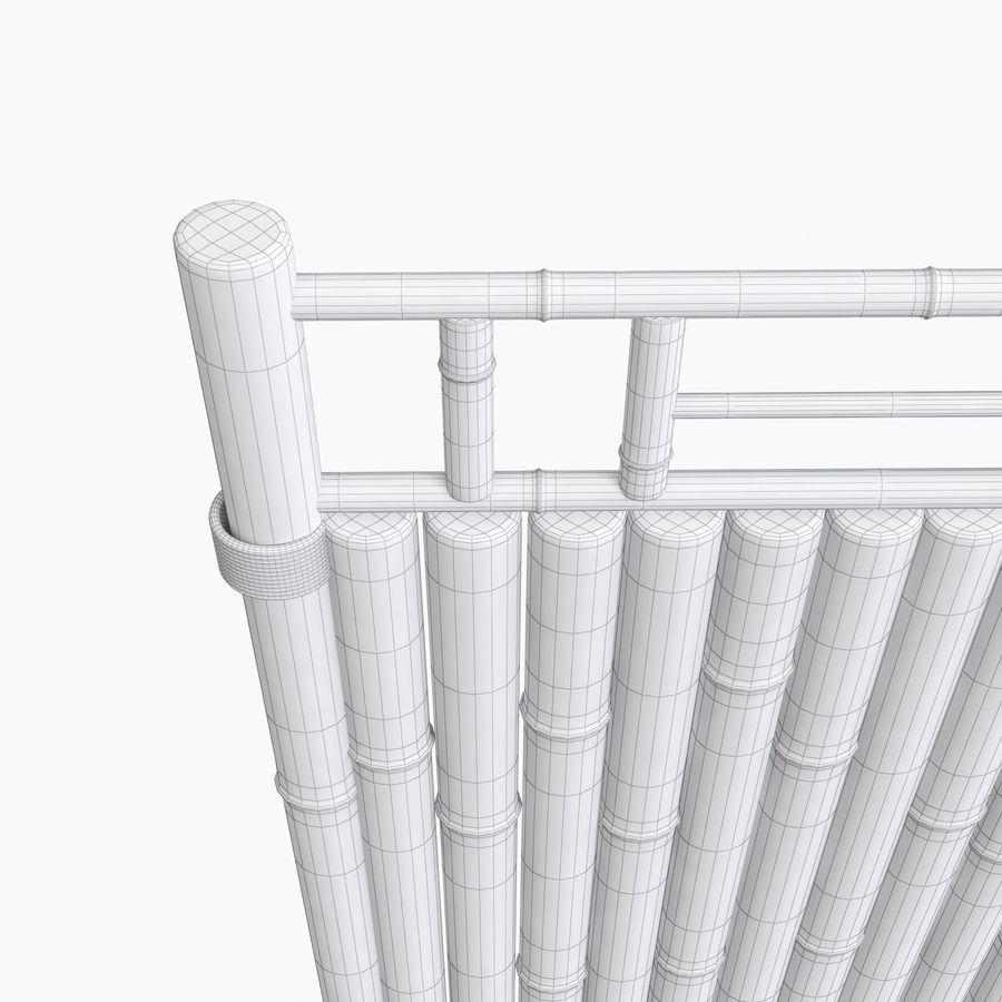 cercas de bambu secional royalty-free 3d model - Preview no. 14