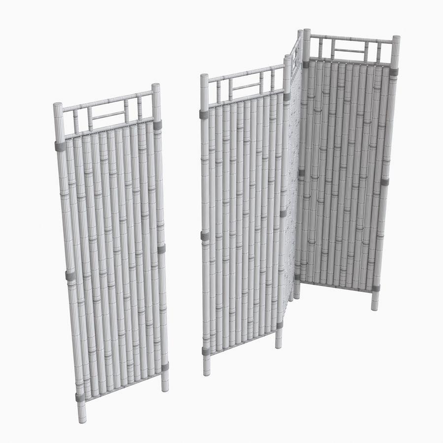 cercas de bambu secional royalty-free 3d model - Preview no. 10