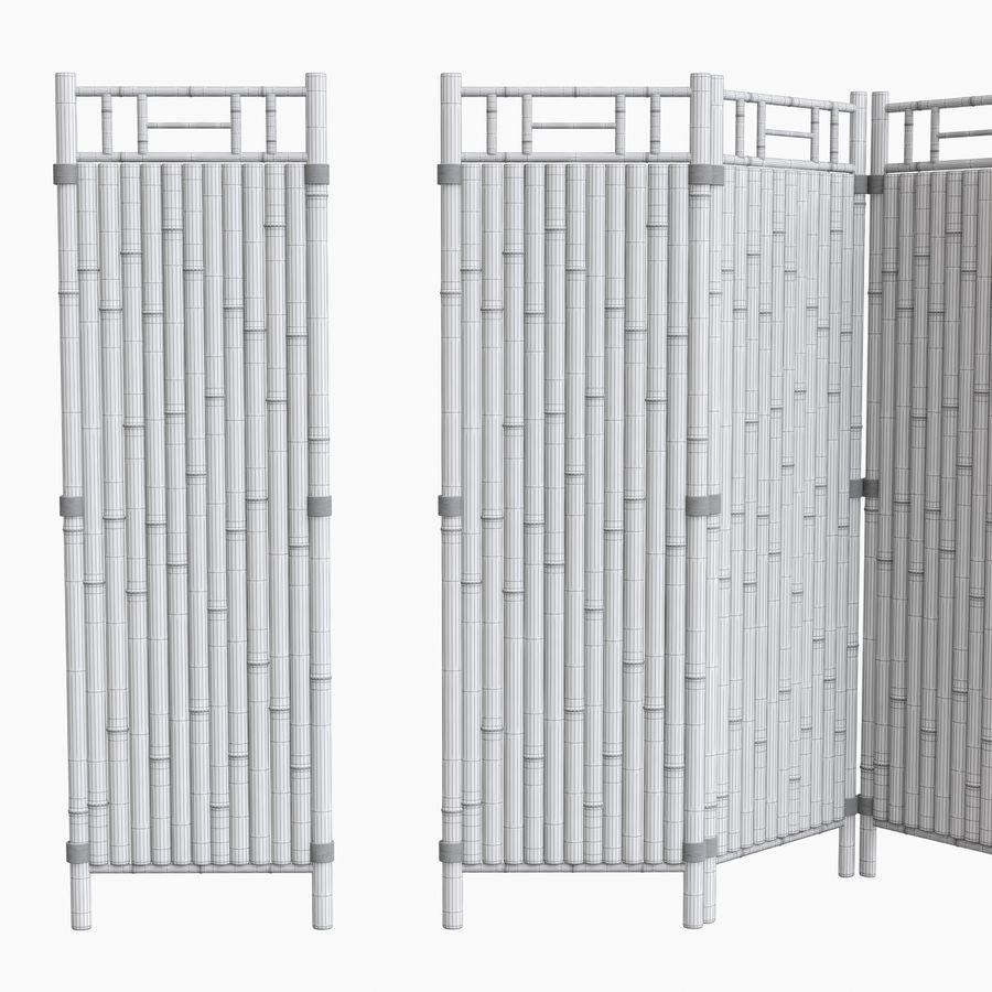 cercas de bambu secional royalty-free 3d model - Preview no. 13